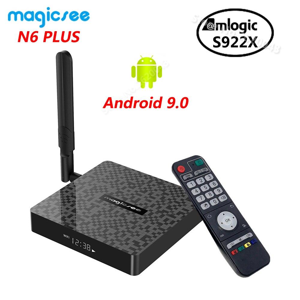 Magicsee N6 PLUS Amlogic S922X Smart Android 9.0 TV Box 4GB DDR4 32GB 64GB ROM 2.4G 5G WiFi 1000M Bluetooth 4K HD Media Player