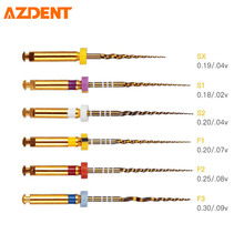 AZDENT роторный супер канал корень золотые файлы Стоматологическая лаборатория NITI Endodontic Pro супы медицинская клиника стоматолога двигатель использовать SX-F3 25 мм