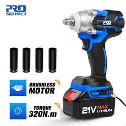 21V Brushless Wrench Cordless Electric Impact Socket Wrench 4000mAh Li Battery Hand Drill Installation Power Tools by PROSTORMER
