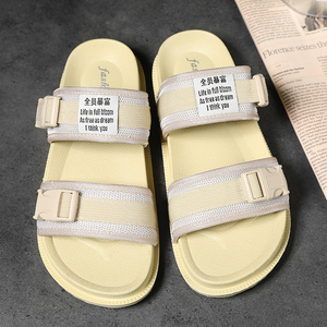Image 2 - 2019 Summer Man Sandals Women Sandals Men Light Shoes Black Yellow Fashion Leisure Breathable Hot Sale Lover Slippers Sneakers