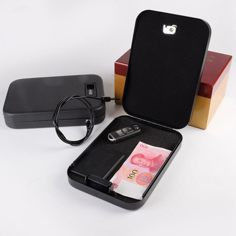 Household Portable Pistol Insurance Box Jewelry Jewelry Cash Anti-Theft Car Insurance Box Anti-Theft Key Box