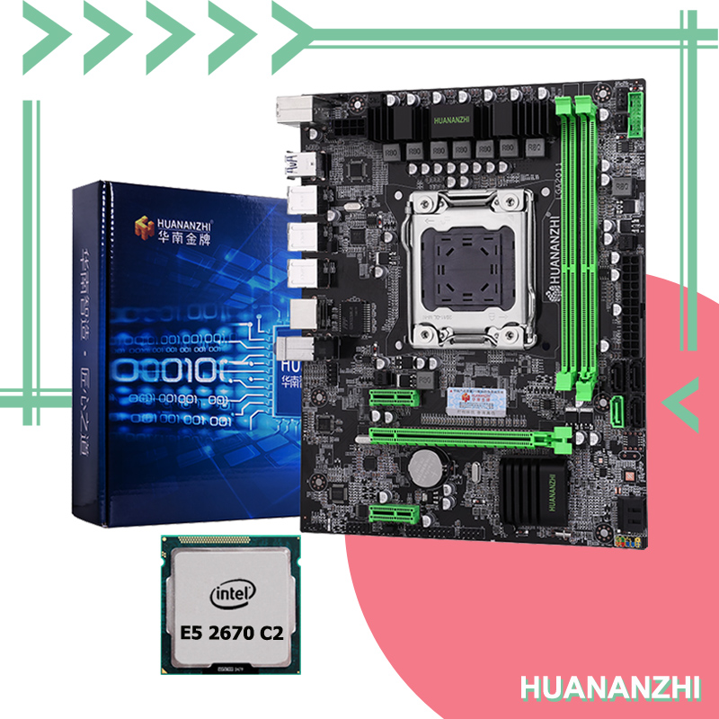 DIY PC assembly brand HUANANZHI X79 motherboard discount motherboard with CPU Intel <font><b>Xeon</b></font> <font><b>E5</b></font> <font><b>2670</b></font> <font><b>C2</b></font> USB3.0 SATA3.0 quality A+++ image