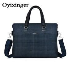 Men's Handbags Business A4 File Leather 14″ Laptop Crossbody Bags For Men Shoulder Bag Purses And Handbags Pochette Bolso Hombre