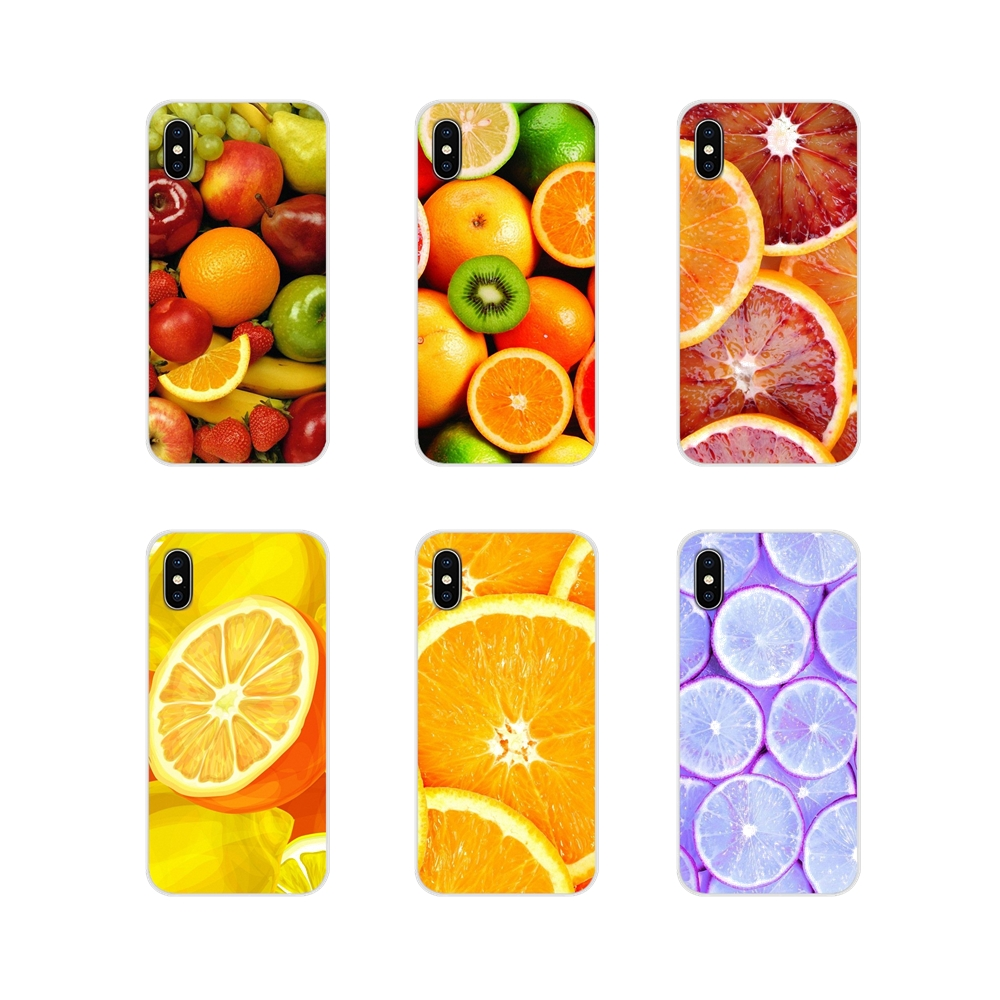 For Apple iPhone X XR XS 11Pro MAX 4S 5S 5C SE 6S 7 8 Plus ipod touch 5 6 Accessories Phone Cases Covers Citrus Fruit wallpaper image