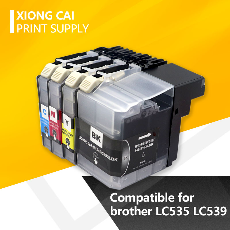 LC539 LC539XL BK LC535 LC535XL C/M/Y Compatible Ink Cartridge For Brother DCP-J100/DCP-J105/MFC-J200 Printer (full Ink)