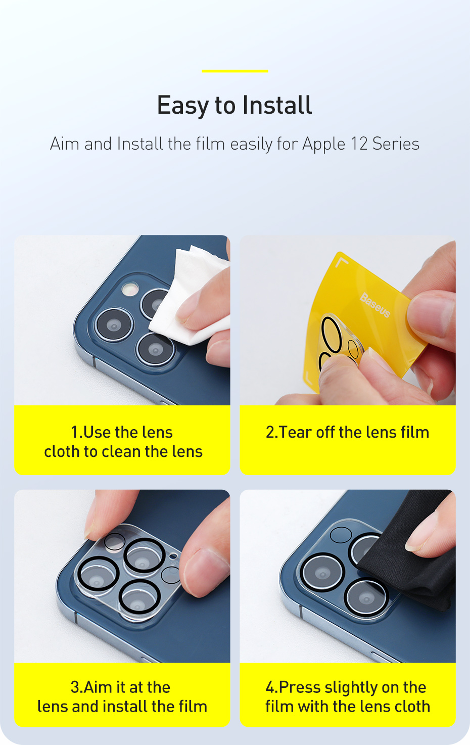 Camera Lens Protector For iPhone 12 Pro Max