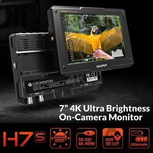 LILLIPUT H7/H7S 7 Inch 4K Ultra Brightness On-Camera Monitor with Full HD Resolution 1800nit Sunlight Viewable 4K-HDMI & 3G-SDI