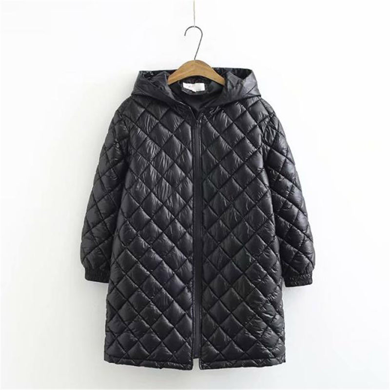 Extra Large Female Cotton Coat Winter Casual Hooded Warm Plus Size Mid-length Down Cotton Jacket Women Abrigo Mujer 5XL F2547