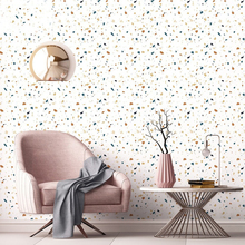 Terrazzo Flooring Waterproof Self Adhesive Wallpapers Living Room Kids Bedroom Decor Wall Sticker Kitchen Cabinet Contact Paper