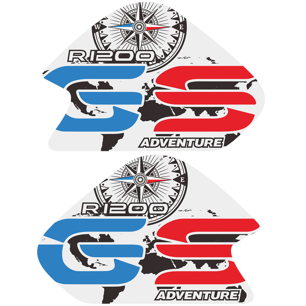 Decals 2014-2018 BMW R1200GS LC Adventure GS BIG Side tank Stickers