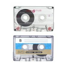 2 pièces 60 Minutes Cassette Standard lecteur de bande vierge enregistrement de bande Audio magnétique vide pour l'enregistrement de musique vocale MP3 /DVD