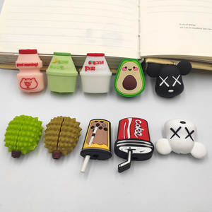 Winder-Cover Cable-Protector Protective-Cable Cartoon Data-Line-Cord iPhone Cute Avocado