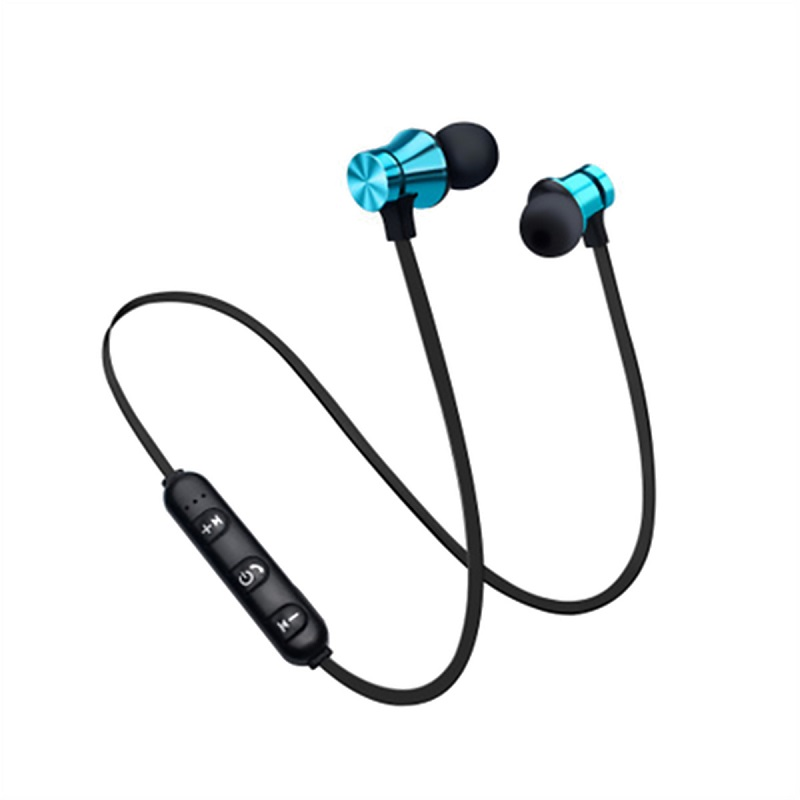 Magnetic Wireless Bluetooth Earphone Music Headset Phone Neckband Sport Earbuds Headphone With Mic For IPhone Samsung Xiaomi
