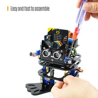 Smart Biped Robot Kit Support Graphical Programming for STEM Education DIY Toy with Infrared Remote Control for School Supplies