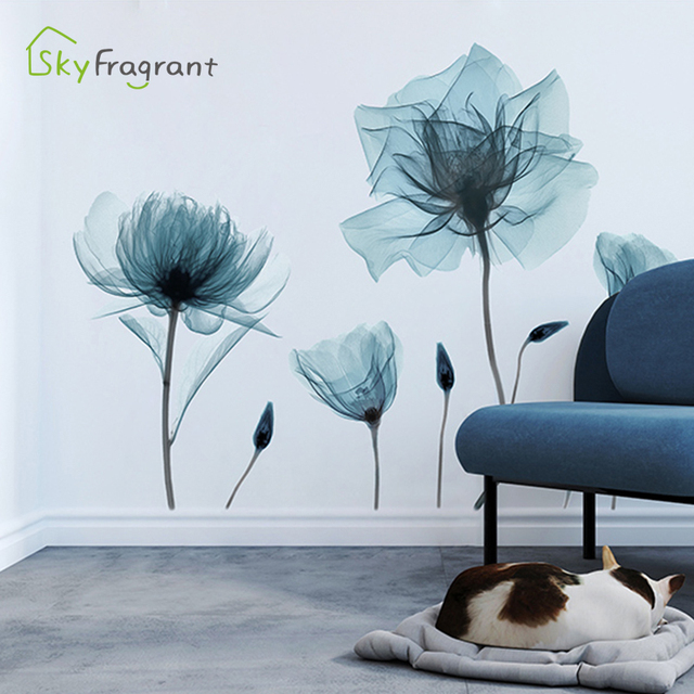 Creative Warm Floral Wall Stickers 6