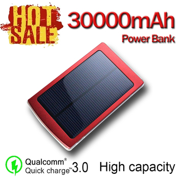 Hot 30000mAh Solar Power Bank Portable Travel Mobile Power Solar Panel Automatic Charging in the Sun External Battery Charger 1