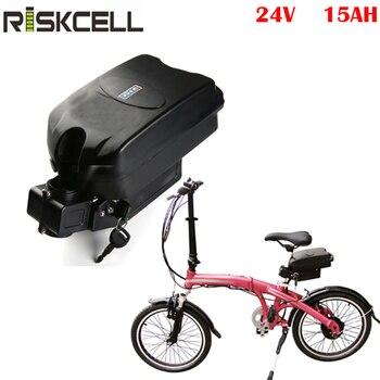 24v 350w ebike batería Li-ion 24v 15ah Rana bicicleta eléctrica batería de iones de litio batería patinete e bicicleta akku batería bici