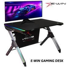 Escritorio de Gaming para estudio, mesa de oficina para ordenador, escritorio de PC, cargador inalámbrico RGB, multifunción, entrega Local