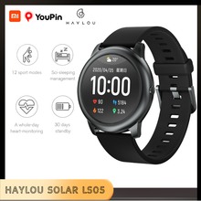 Xiaomi Youpin Haylou Solar LS05 Smart Uhr Männer Frau Smartwatch Wasserdicht Herz Rate Schlaf Monitor Für IOS Android Globale
