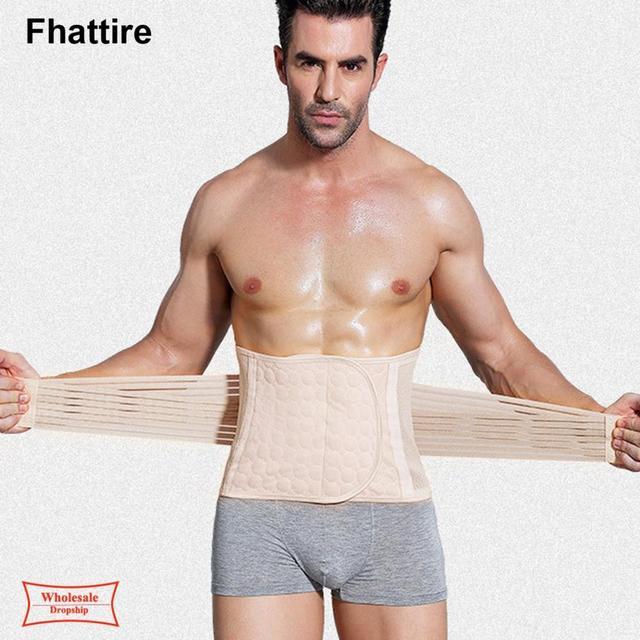 New Arrive Body Shaper Waist Trainer Slimming Shapewear Men Neoprene Sweat Weight Loss Belt Gym Fitness Modeling Strap Corset