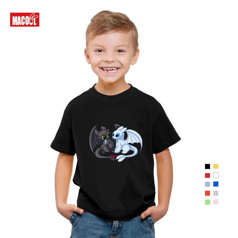 kids t shirts boys girls cool Pocket Toothless Cute Fashion How To Train Your Dragon Cartoon Clothes baby Tees 3 4 5 6 8 9 Year