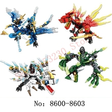 DIY115pcs Ninjaly Dragon Knight Model Building Blocks Compatible legoingly KAI JAY ZANE Figures Bricks toys for childrens gifts [jkela] 592pcs flying mecha dragon building blocks bricks toys children model gifts compatible with legoingly ninjagoingly