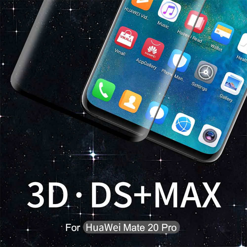 NILLKIN Full Covered Original 3D DS MAX 9H Tempered <font><b>Glass</b></font> Screen <font><b>Protector</b></font> Arc Edge For <font><b>Huawei</b></font> <font><b>P30</b></font> <font><b>Pro</b></font> Mate 20 <font><b>Pro</b></font> Mobile Phones image