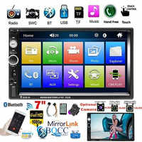 2 Din 7 Inch TFT Touch Screen 7023B Autoradio Car Player FM Radio Bluetooth Stereo Auto Support Rear View Camera MP5