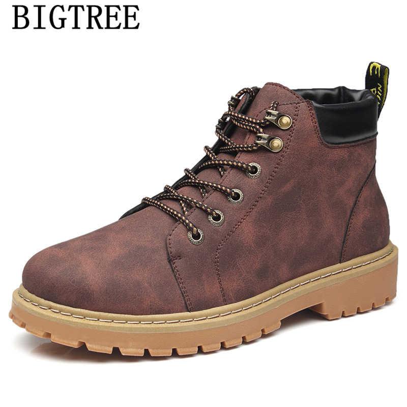 革ブーツ男性靴アンクルブーツメンズ冬の靴男性の雪のブーツ Zapatos デ Hombre Sepatu Pria Calzado Hombre ボタ masculina