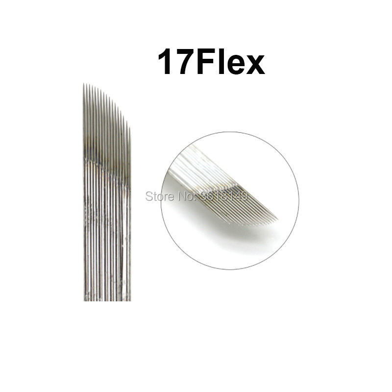 0 25mm Lamina Tebori Microblading Needles 17 18 Flex 0 3mm Bevel Tattoo Blade 14 flex Permanent Makeup Eyebrow Lip Embroidery in Tattoo Needles from Beauty Health