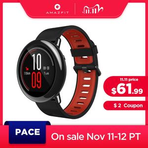 Image 1 - Original Amazfit Pace Smartwatch Amazfit Smart Watch Bluetooth Notification GPS Information Push Heart Rate Monitor for Android