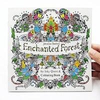 Nova edição em inglês de 24 páginas para crianças  coloração em floresta encanada  24 páginas  para crianças e adultos  aliviar o estresse  mata o tempo  pintura  livro de desenho
