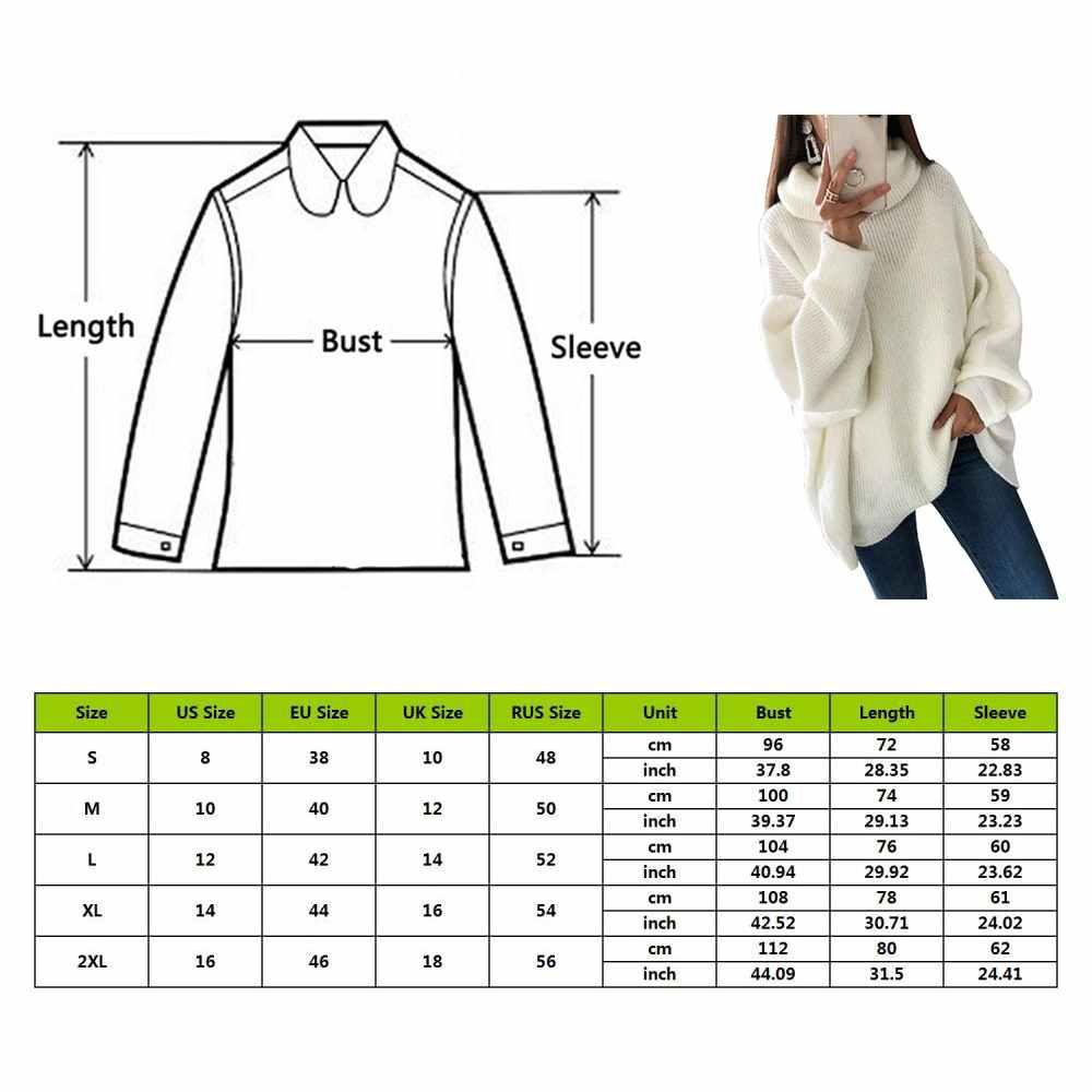 Mjartoria moda plus size 2xl blusas de malha e pulôveres feminino solto gola alta longo sweter femme malhas tops