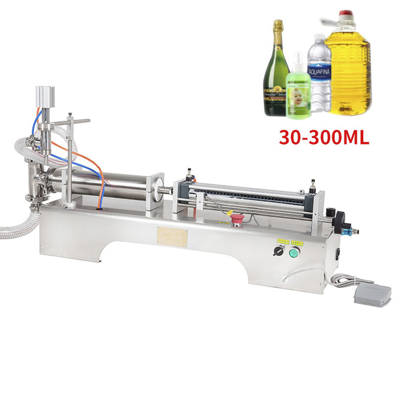 30-300ML Electric Pneumatic Single Head Liquid Filling Machine Shampoo Gel Water Wine Milk Coffee Beverage Filling Machine