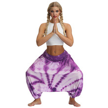 Tie-dyed Print Yoga Pants Women Loose Plus Size Workout Gym Leggngs Sports Training Leggings For Running Fitness Dance