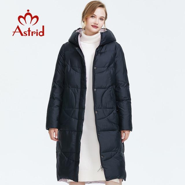 استريد 2019 شتاء جديد وصول سترة نسائية ثقيلة ملابس خارجية عالية الجودة نمط طويل سميكة القطن الدافئة المرأة معطف الشتاء AR 6596