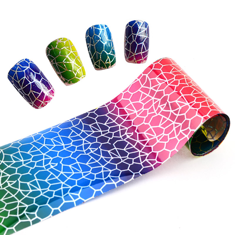 Star Printed Paper For Manicure Harajuku Bottled Star Nail Sticker Thermal Transfer Sticker 4*100 Cm
