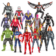Marvel Super Hero The Avengers Action Figure Model Toy Iron Man SpiderMan Hulk Captain Thor Thanos Figure Dolls Fun for Children 2018 marvel amazing ultimate spiderman captain america iron man pvc action figure collectible model toy for kids children s toys