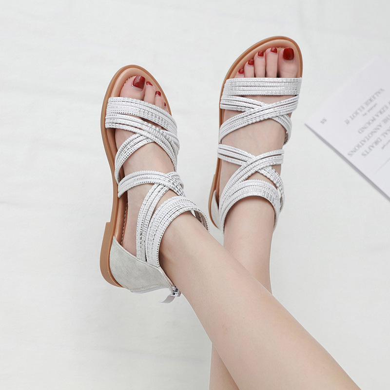 2020 Roman style women sandals vacation beach sea shoes women shoes off white shoe