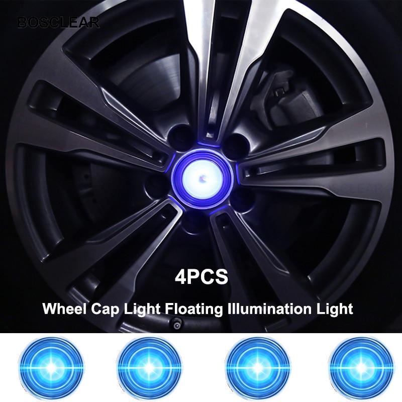 4pcs Hub Light Car Wheel Caps Light Floating Illumination LED Light Center Cover Lighting Cap For Bmw E46/e60/e39/e90/f30/f10