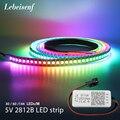 RGB WS2812B WS2812 светодиодная полоса светильник SP110E Bluetooth светодиодный контроллер USB постоянного тока Соединительный комплект DC5V 1 м/2 м/3 м/4 м/5 м