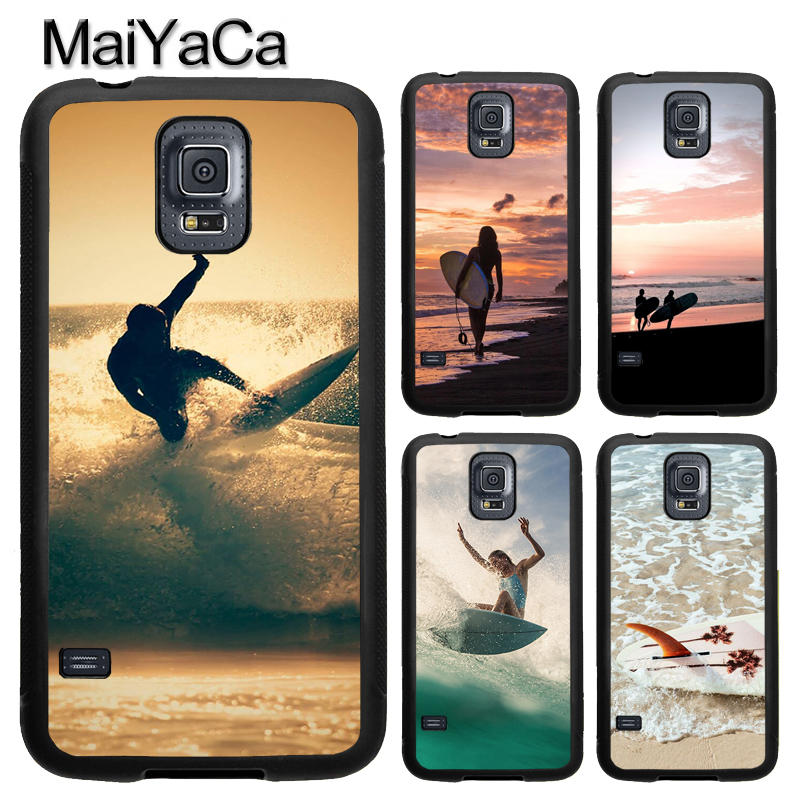 Beach Surf <font><b>Board</b></font> Ocean Waves Case For Samsung Galaxy A71 A51 A50 A70 A10 A20 A30S A40 <font><b>Note</b></font> 10 S8 S9 S10 S20 Ultra Plus S10e S7 image