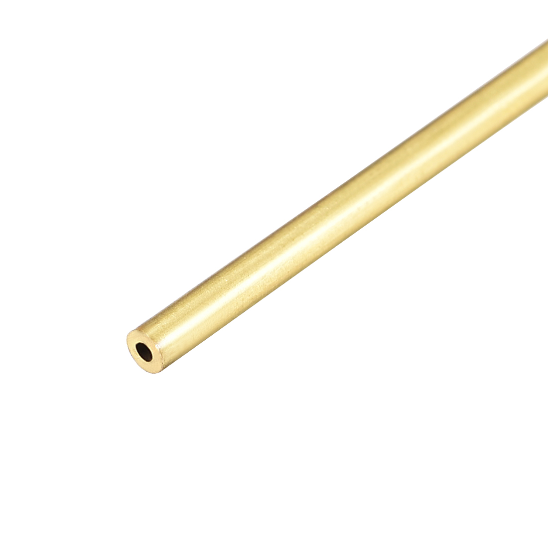 Uxcell Brass Round Tube 300mm Length 2mm OD 0.5mm Wall Thickness Seamless Straight Pipe Tubing