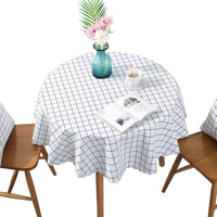 Small round table tablecloths waterproof oil proof washable tablecloths round household plastic table mats tea table mats