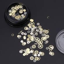 120 pçs misturados steampunk cogs engrenagem relógio charme uv quadro resina jóias recheios diy