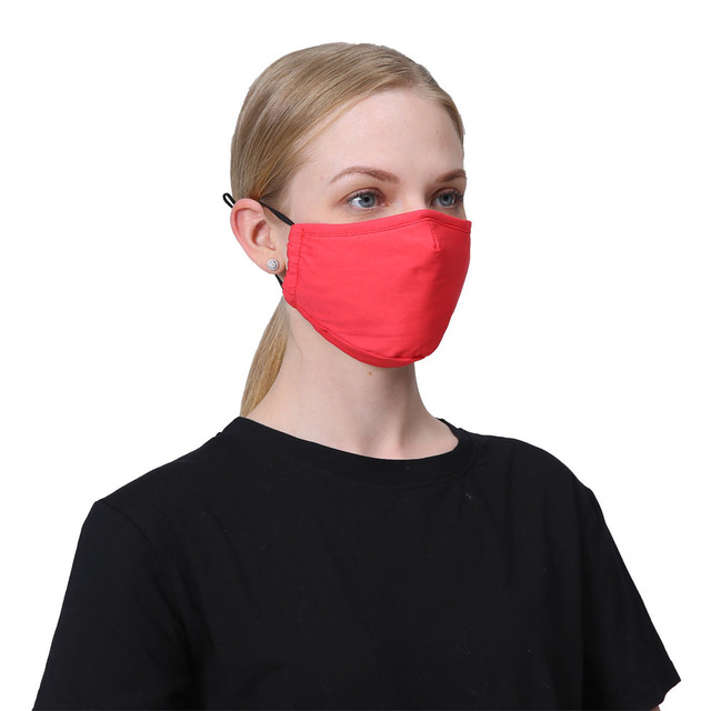 PM2.5 Cotton Anti Dust Mask Mouth Mask Activated Carbon Filter Fabric Face Windproof Bacteria Proof Flu Mouth-muffle Mask 3
