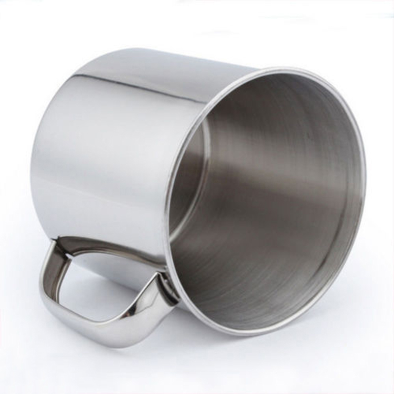 100% Brand New Quality Stainless Steel Camping Mug Cup Outdoor Drinking Coffee Tea Handle Cup HOT SALE