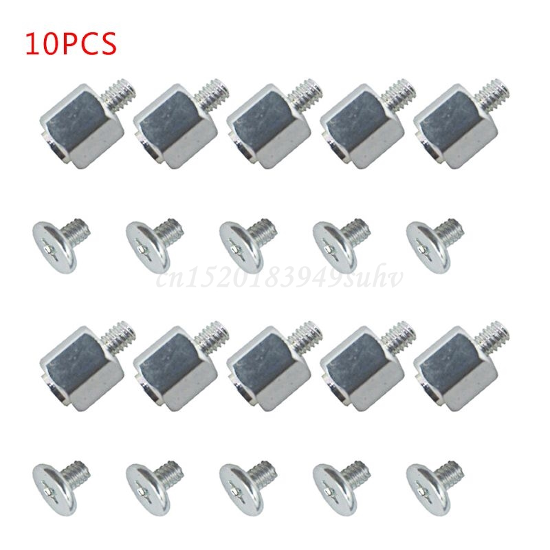 10 Set Hand Mounting Kits Stand Off Screw Hex Nut for A-SUS M.2 SSD Motherboard Silver Black 2