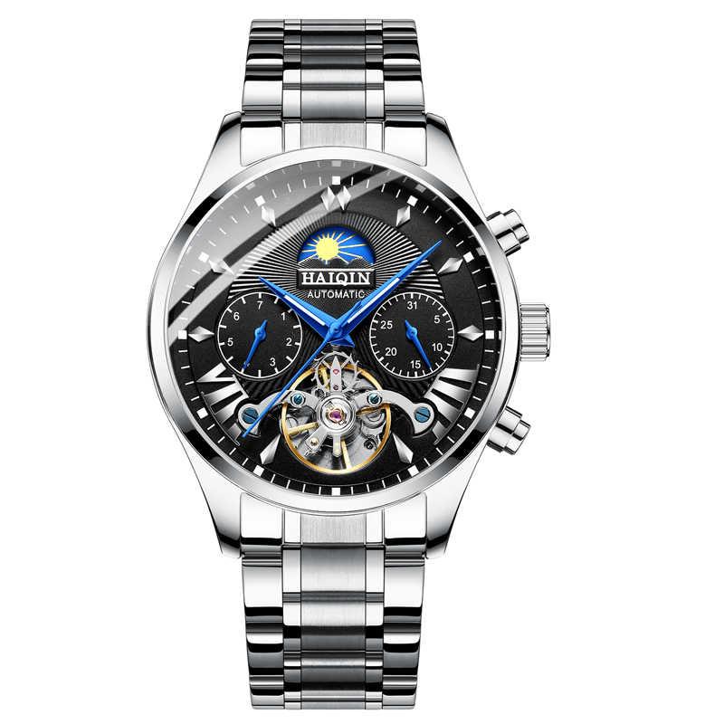 HAIQIN мужские/мужские часы лучший бренд класса люкс автоматические/механические/роскошные мужские спортивные наручные часы мужские reloj hombre tourbillon