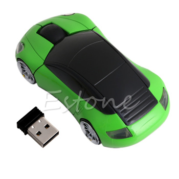 2.4G 1600DPI Mouse USB Receiver Wireless LED Light Car Shape Optical Mice Y3ND image